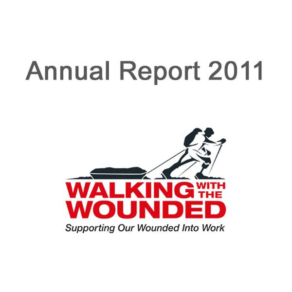 2011 Annual Report  - Cover Image for 2011 Walking With The Wounded Annual Report