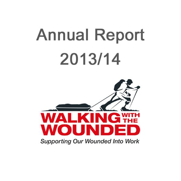 2013/14 Annual Report  - Cover Image for 2013/14 Walking With The Wounded Annual Report