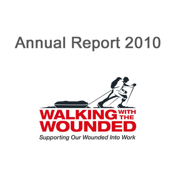 2010 Annual Report - Cover Image for 2010 Walking With The Wounded Annual Report