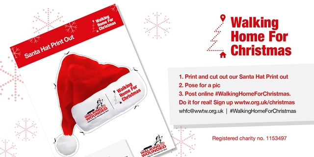 97139d7b893 News - Cut-out Santa hat to spread the word! - Walking With The Wounded