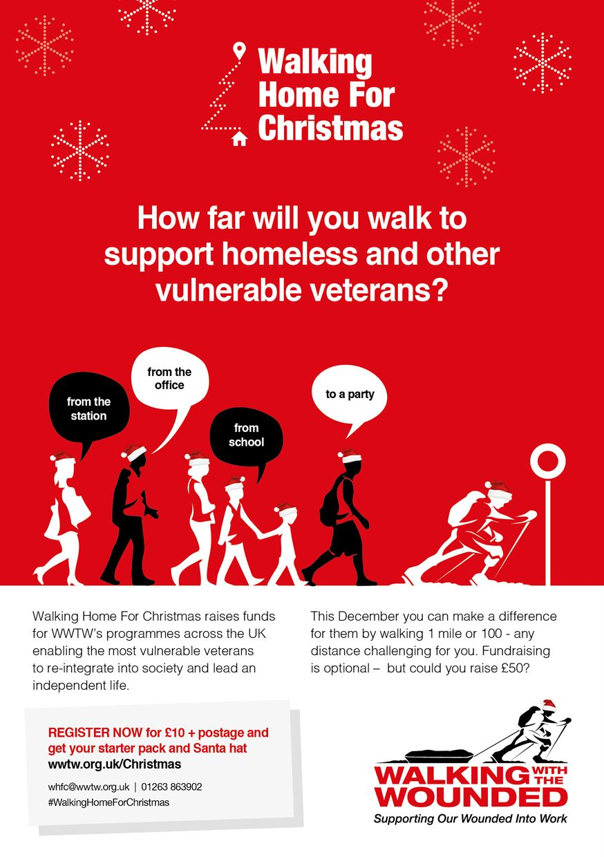 Christmas Fundraiser Flyer.Walking Home For Christmas Resources Walking With The Wounded