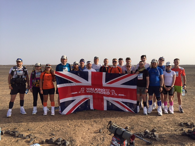Walking With The Wounded team at the MDS